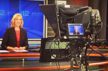 Alison Parker prepares to go on air for WCTI News Channel 12 in Jacksonville, N.C.