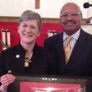 Dr. Angeline Godwin and Pastor J.C. Richardson Jr.